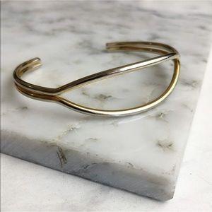 Jewelry - 3 for $25 SALE Gold Cuff Minimal Oval Bracelet